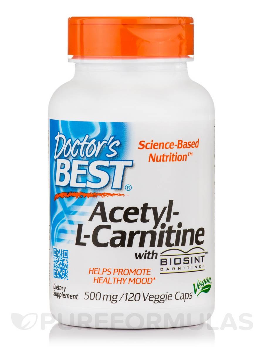 Acetyl-L-Carnitine 500 mg with Biosint™ - 120 Capsules