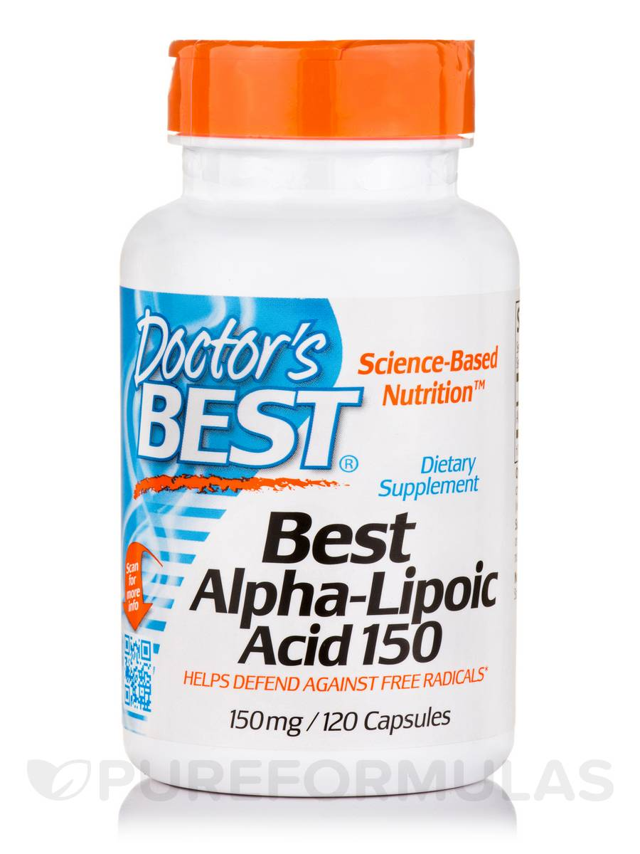 Best Alpha-Lipoic Acid 150 mg - 120 Capsules