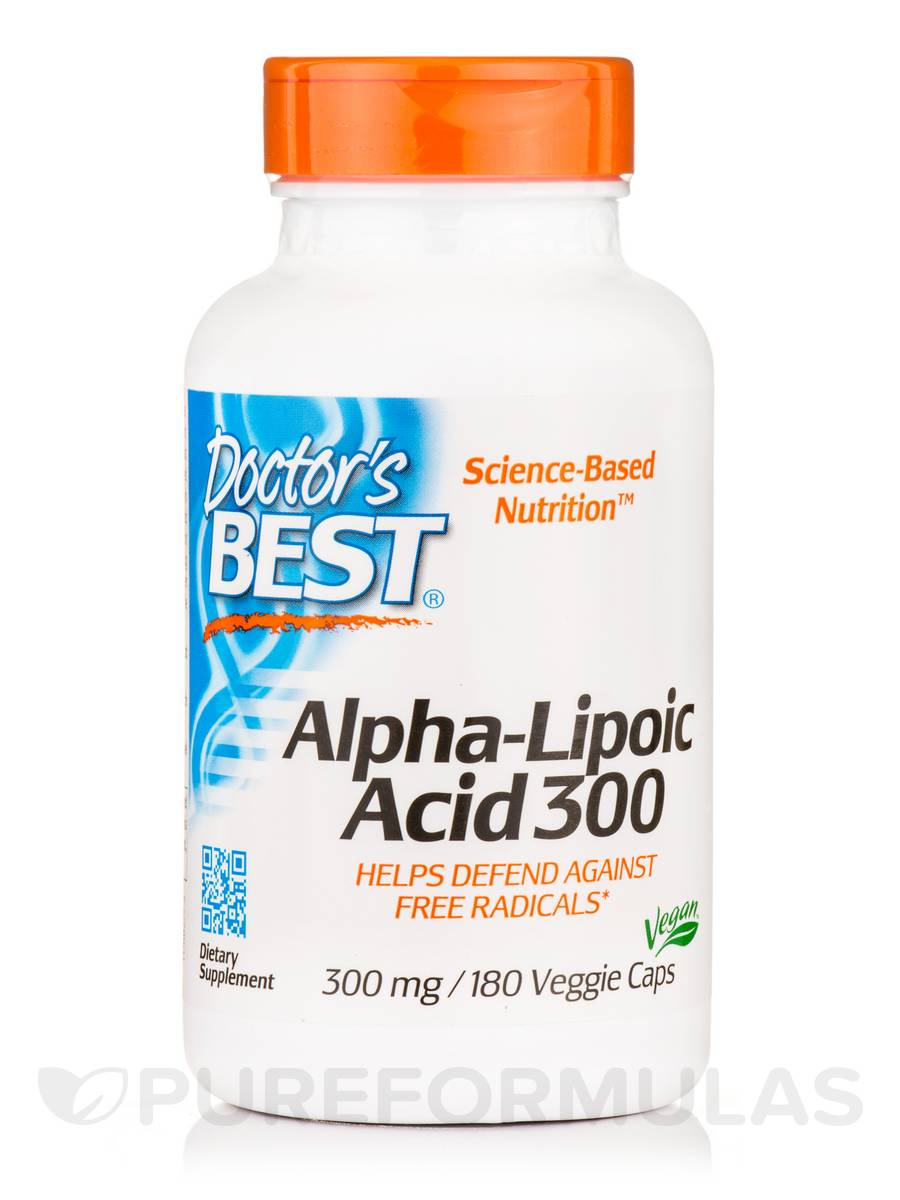 Best Alpha-Lipoic Acid 300 mg - 180 Veggie Capsules