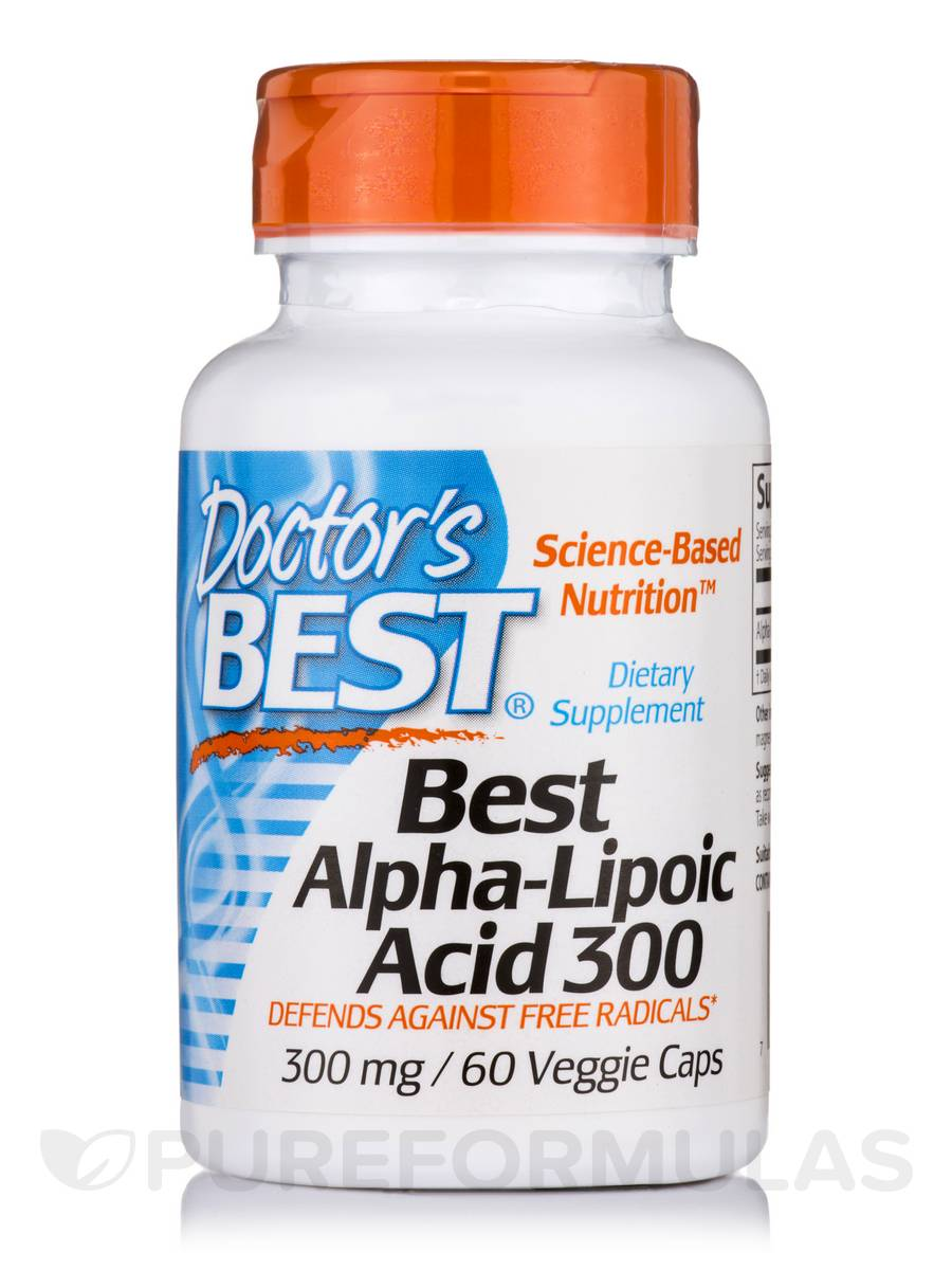 Best Alpha-Lipoic Acid 300 mg - 60 Veggie Capsules