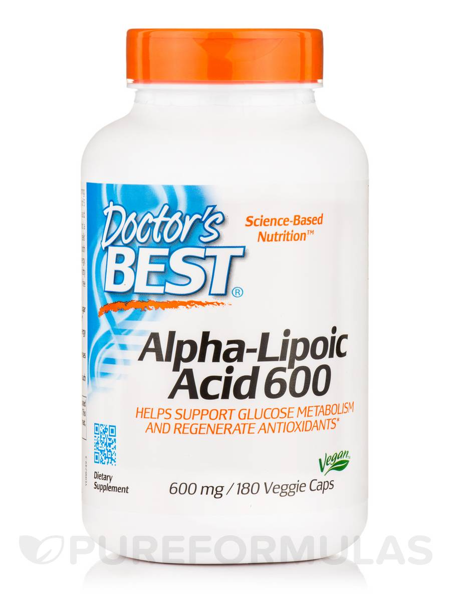 Best Alpha-Lipoic Acid 600 - 180 Veggie Capsules