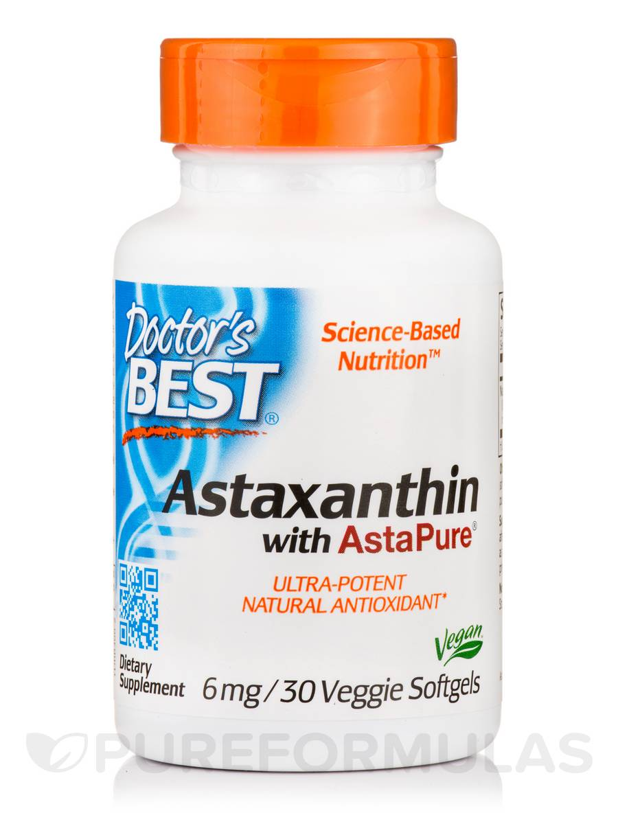 Astaxanthin with AstaPure® 6 mg - 30 Veggie Softgels