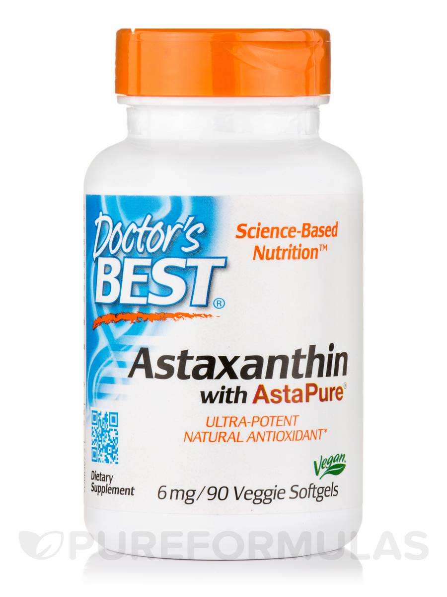 Astaxanthin with AstaPure® 6 mg - 90 Veggie Softgels