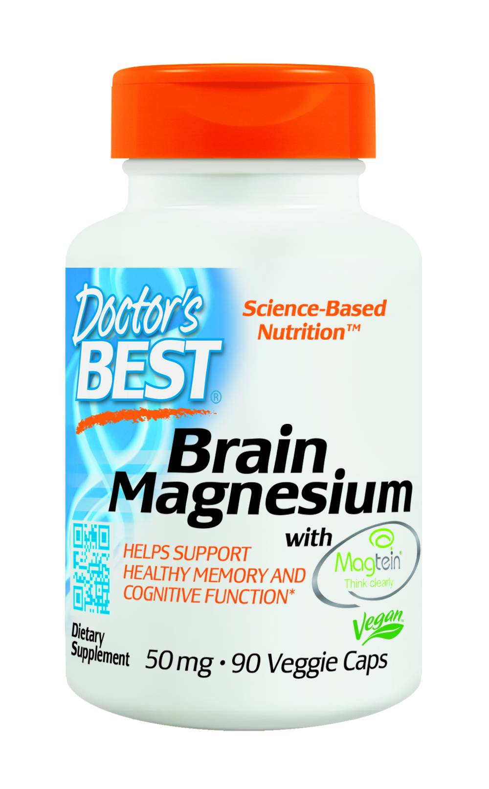 Brain Magnesium with Magtein™ 50 mg - 60 Veggie Capsules