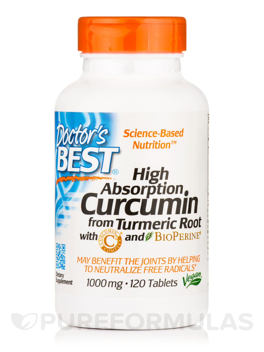 Best Curcumin C3 Complex with BioPerine® 1000 mg - 120 Tablets