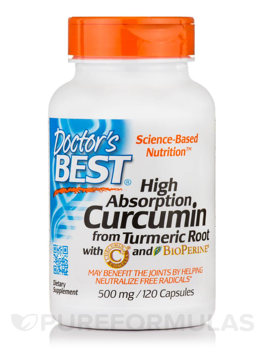 Best Curcumin C3 Complex with BioPerine® 500 mg - 120 Capsules