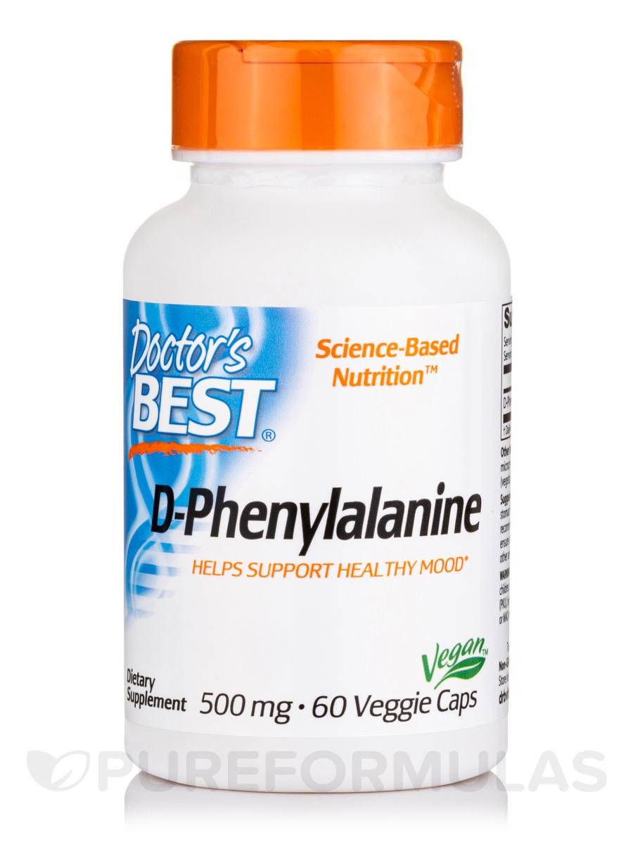 Best D-Phenylalanine 500 mg - 60 Veggie Capsules