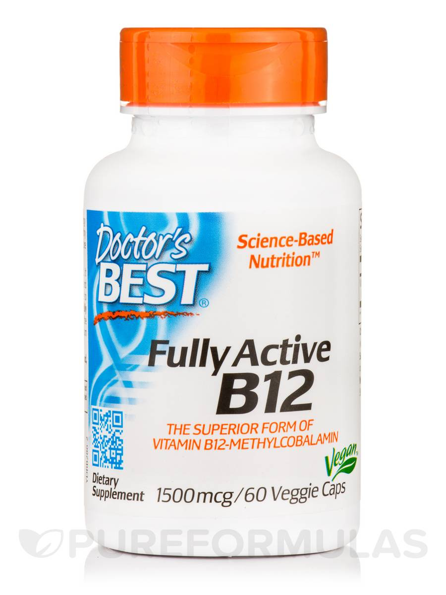 Best Fully Active B12 1500 mcg - 60 Veggie Capsules