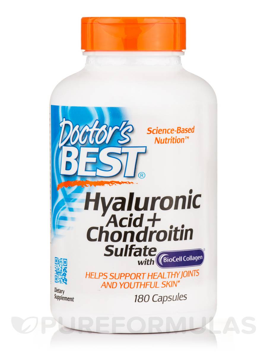Best Hyaluronic Acid with Chondroitin Sulfate - 180 Capsules