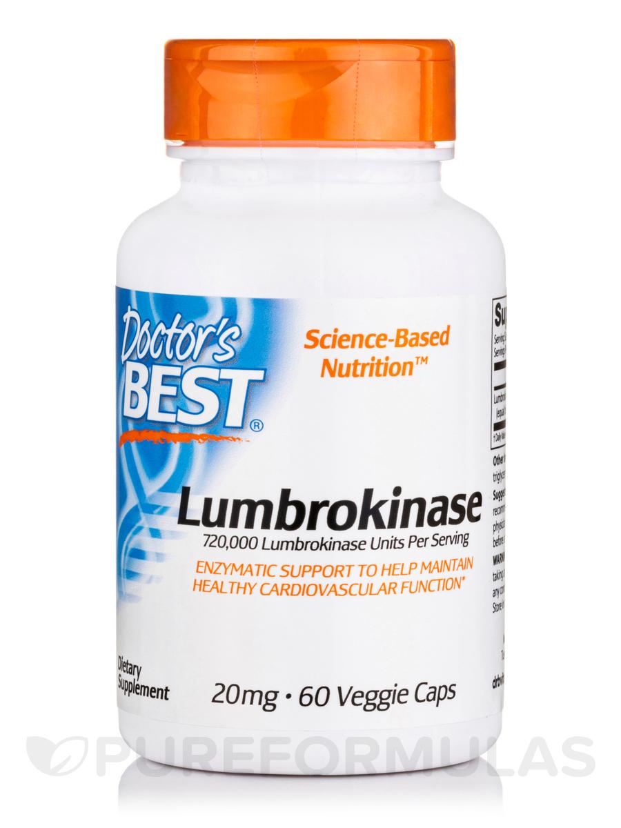 Lumbrokinase 20 mg - 60 Veggie Capsules