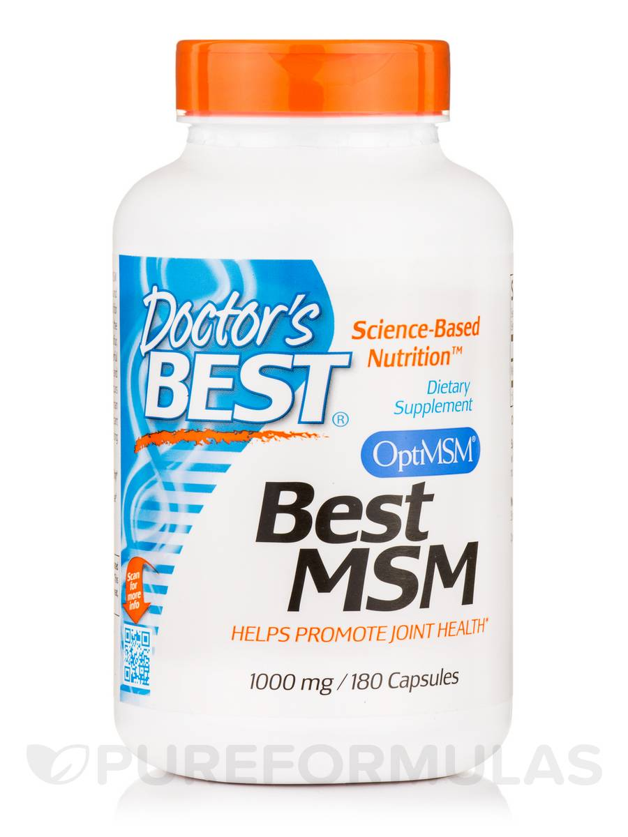Best MSM (OptiMSM®) 1000 mg - 180 Capsules