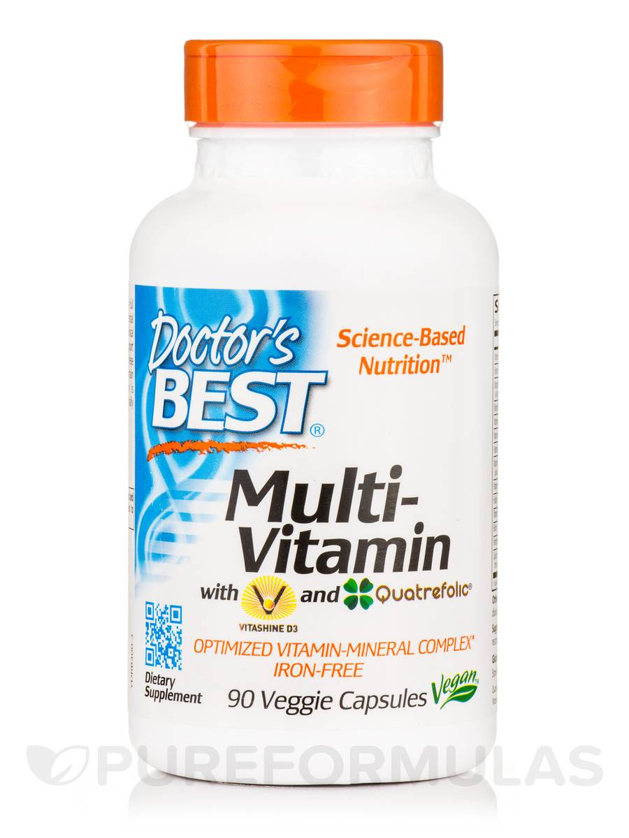 Multi-VItamin with Vitashine D3 and Quatrefolic® - 90 Veggie Capsules