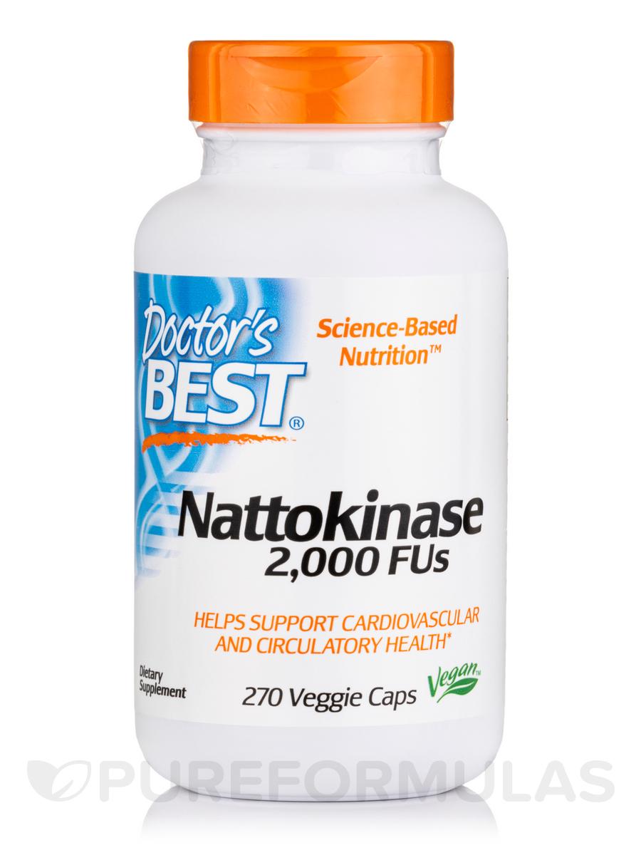 Best Nattokinase 2000 FU - 270 Veggie Capsules