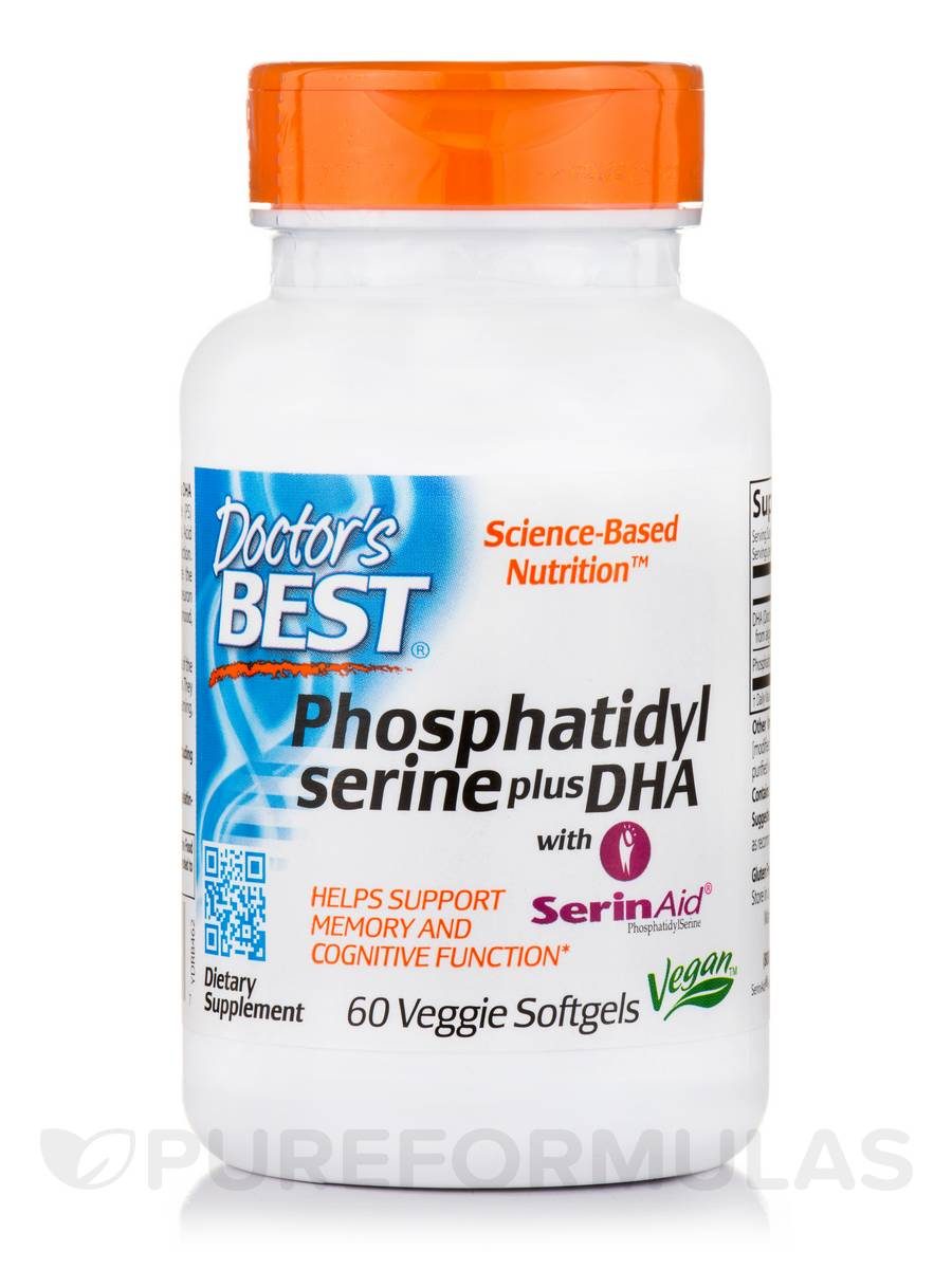 Best Phosphatidyl Serine plus DHA - 60 Veggie Softgels