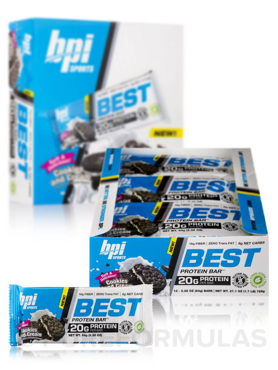Best Protein Bar™ Cookies and Cream - Box of 12 Bars