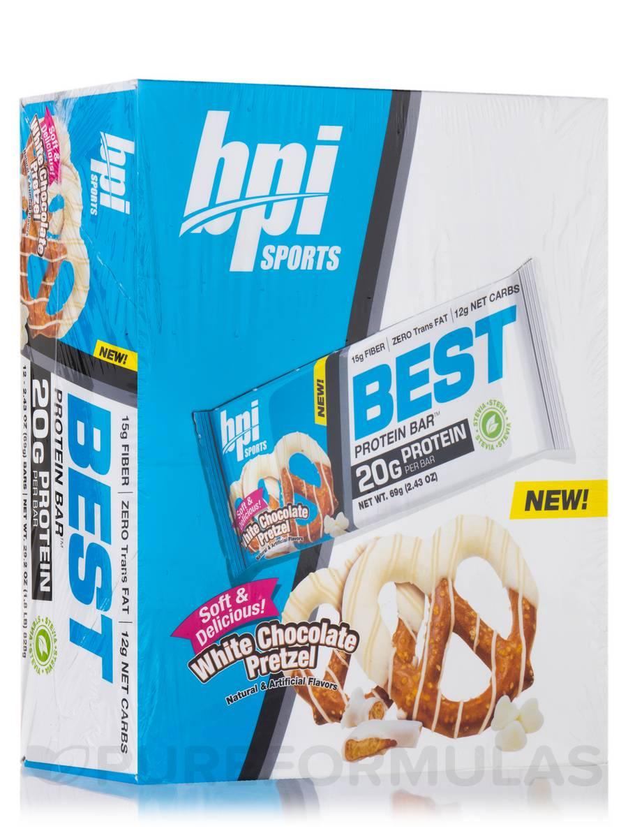 Best Protein Bar™ White Chocolate Pretzel - Box of 12 Bars