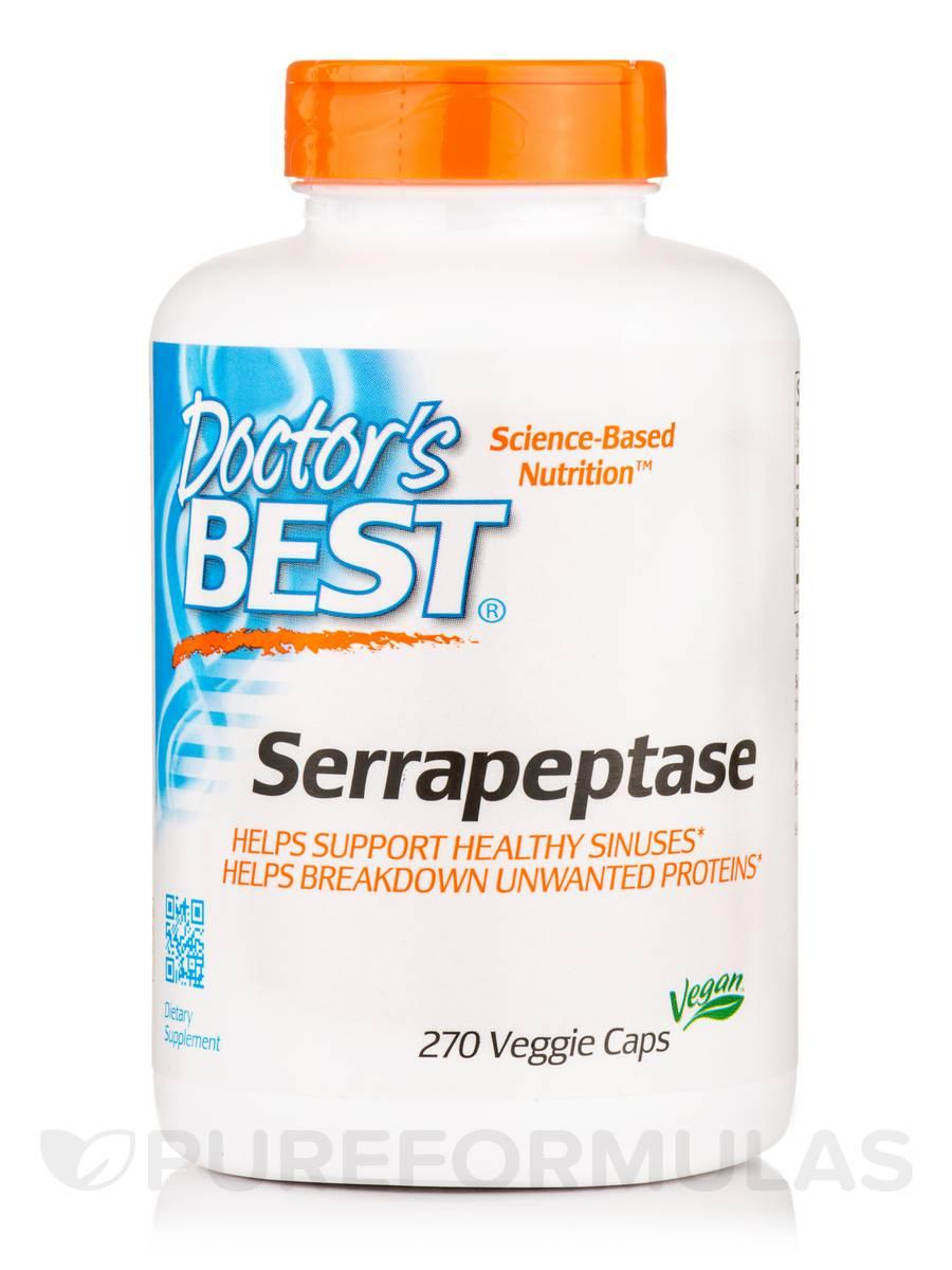 Best Serrapeptase - 270 Veggie Capsules