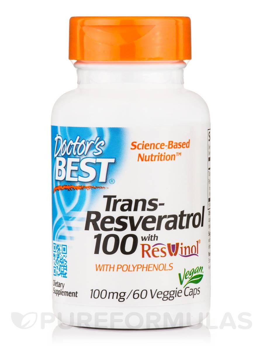 Best trans-Resveratrol with ResVinol-25 100 mg - 60 Veggie Capsules