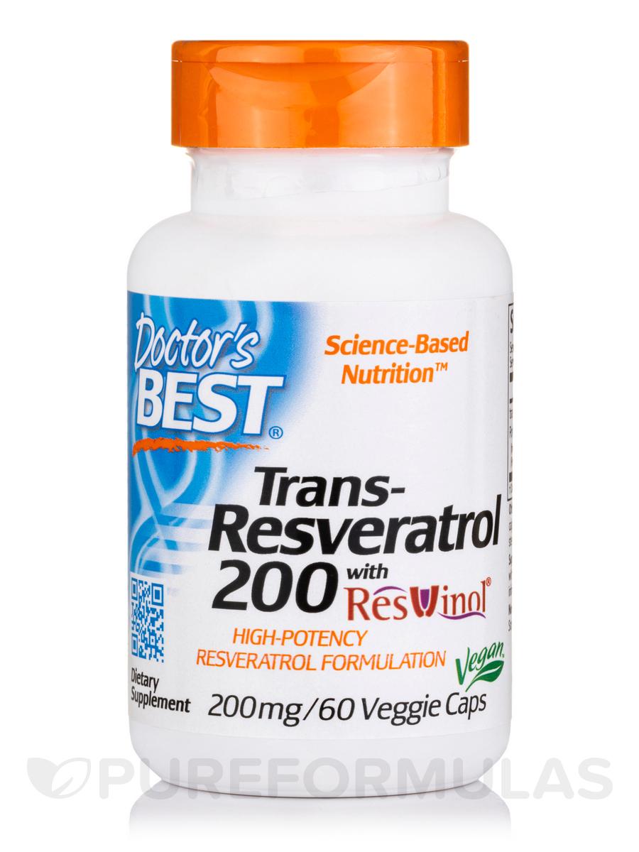 Trans-Resveratrol 200 with ResVinol-25™ - 60 Veggie Capsules