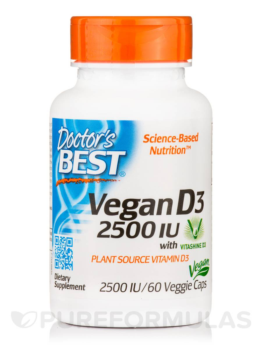 Vegan D3 2500 IU with Vitashine D3 - 60 Veggie Capsules