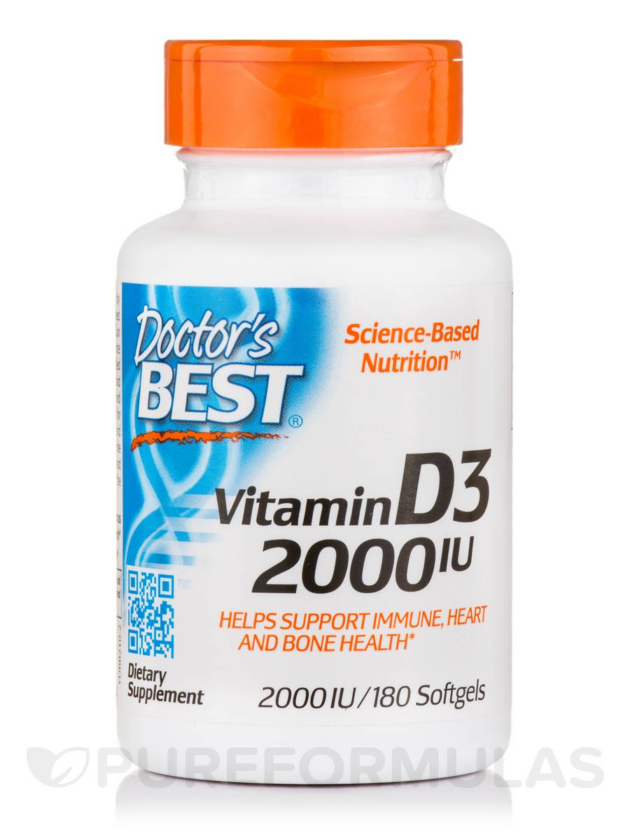 Best Vitamin D3 2000 IU - 180 Softgels