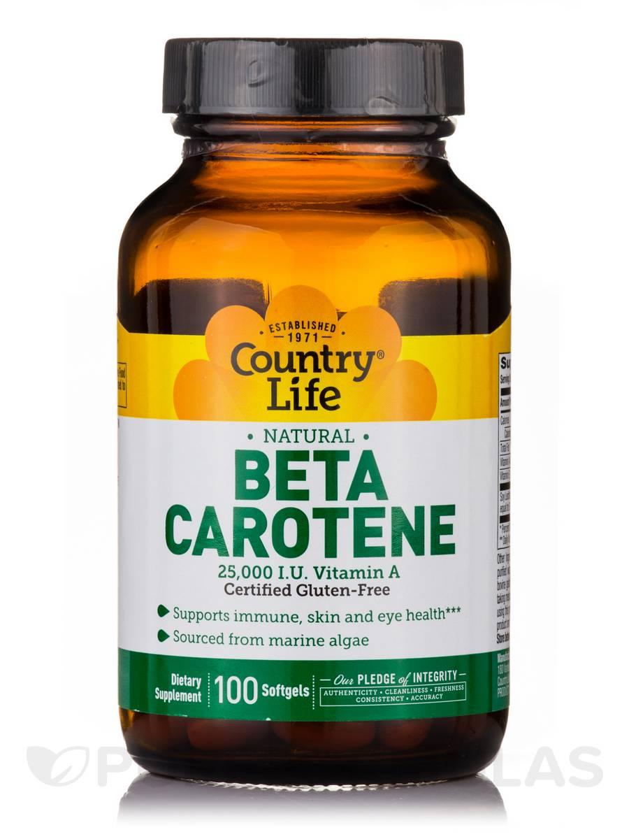 Beta Carotene - 100 Softgels