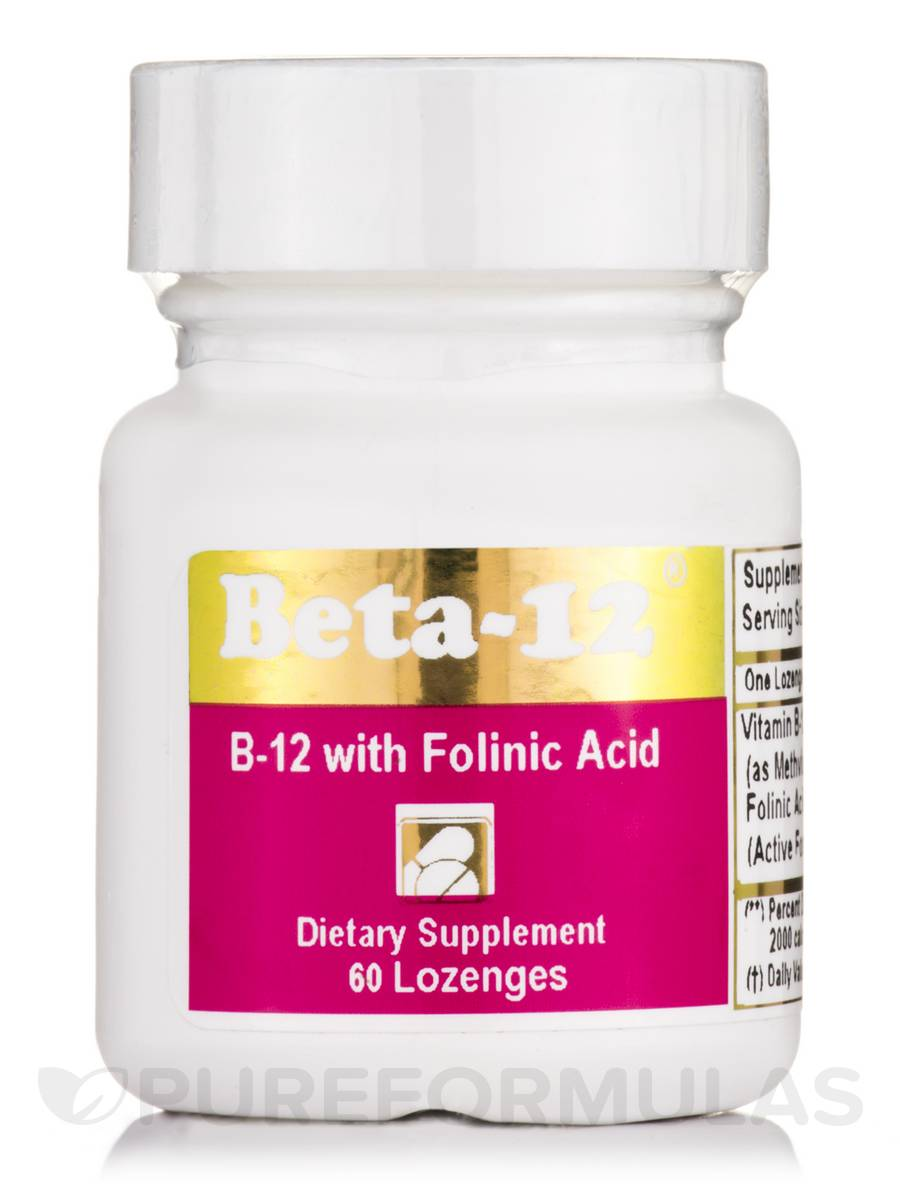 Beta-12® 3 mg with Folinic Acid - 60 Lozenges