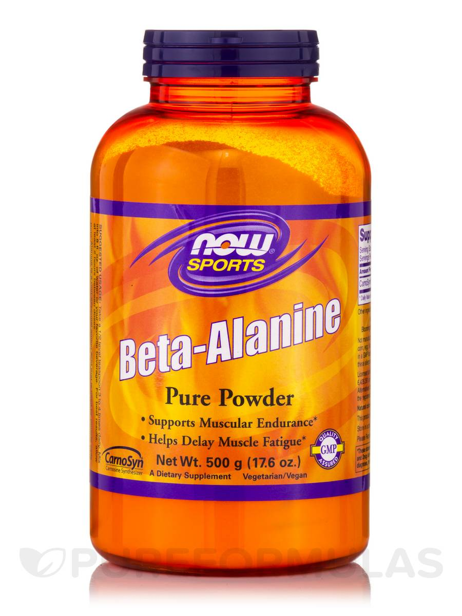 NOW® Sports - Beta-Alanine Pure Powder - 17.6 oz (500 Grams)