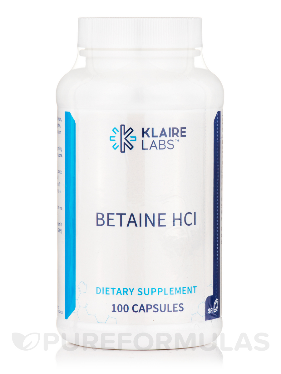 Betaine HCL - 100 Capsules