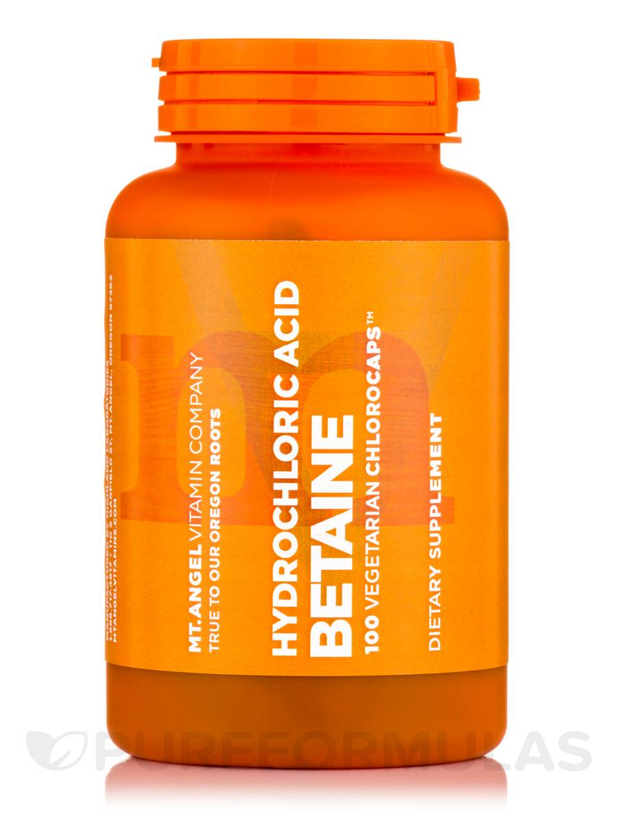 Betaine HCL - 100 Vegetarian Capsules