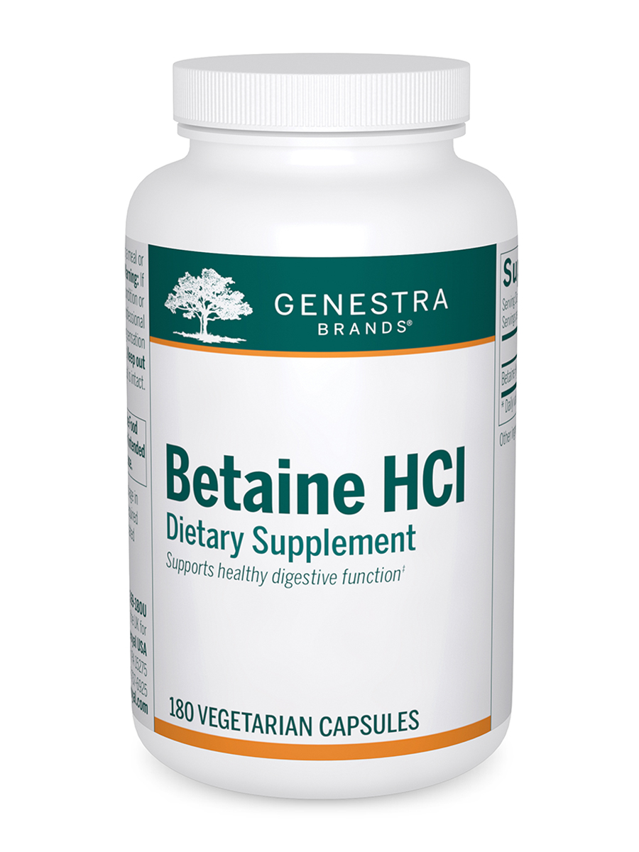 Betaine HCL - 180 Vegetarian Capsules