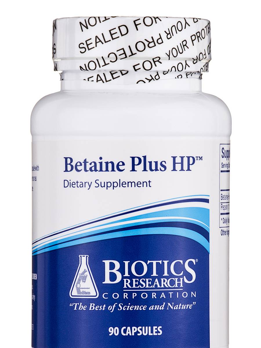 Betaine Plus HP - 90 Capsules