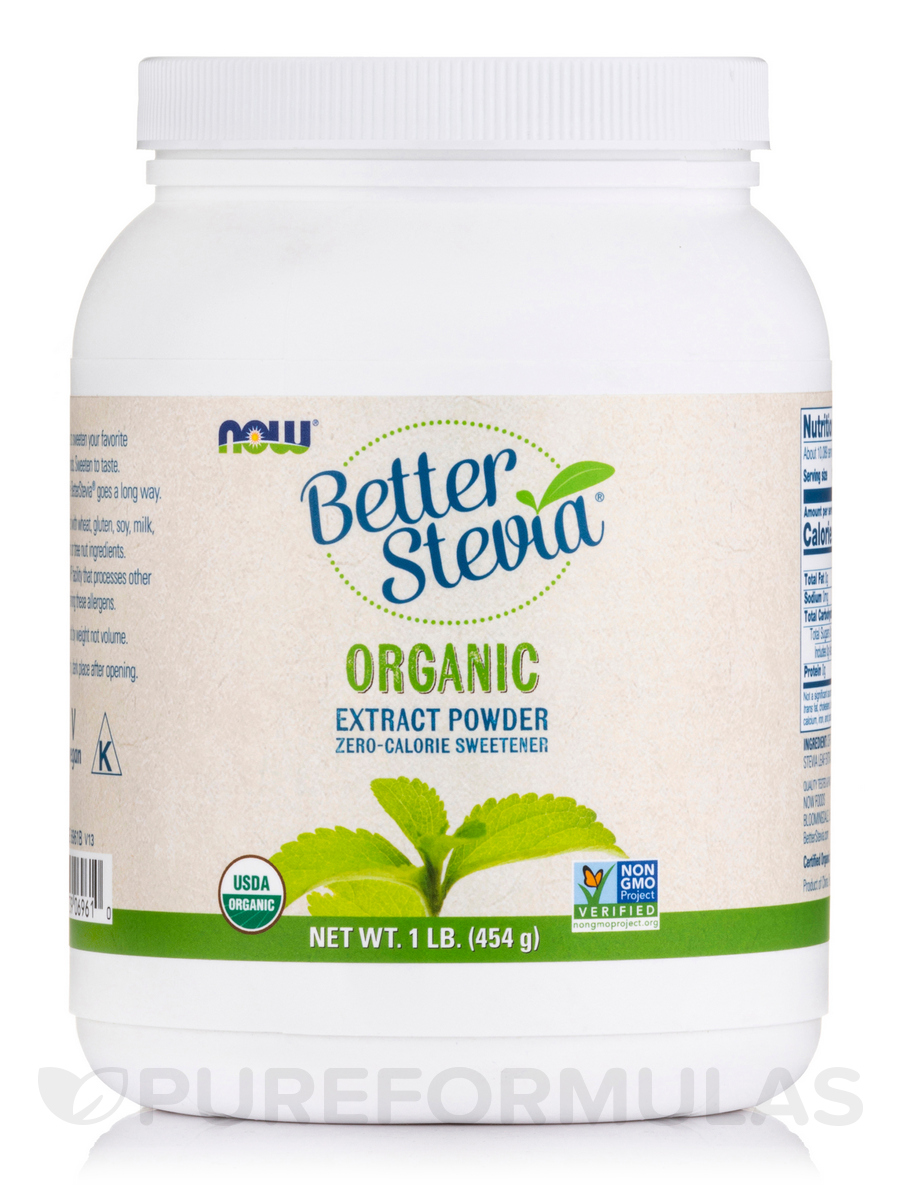 Better Stevia Extract Powder, Organic - 1 lb (454 Grams)