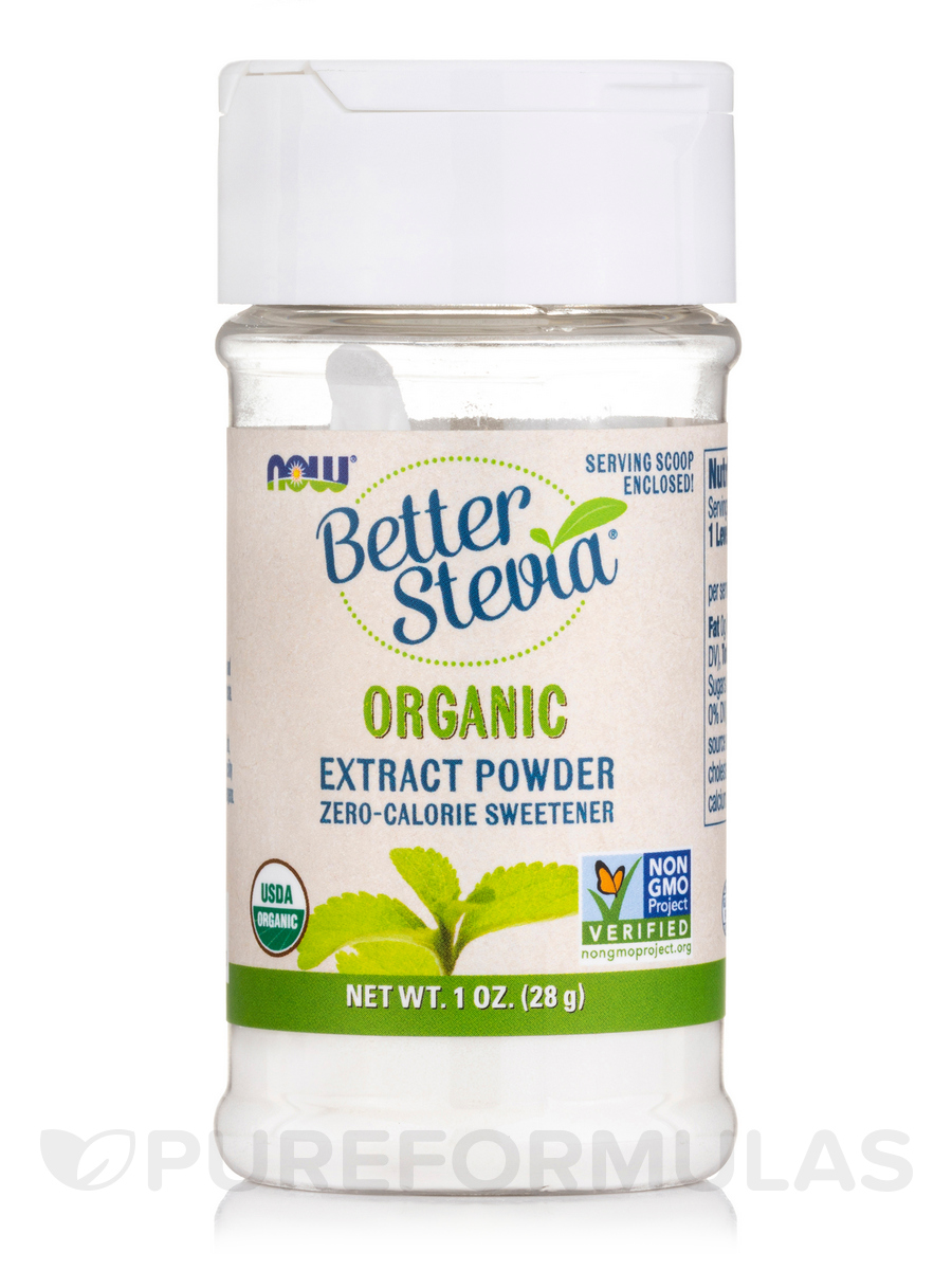 Better Stevia Extract Powder, Organic - 1 oz (28 Grams)