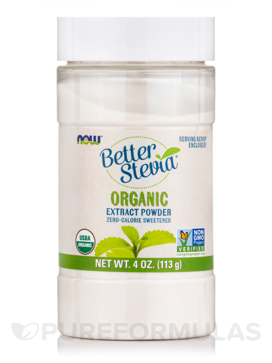 Better Stevia Extract Powder, Organic - 4 oz (113 Grams)