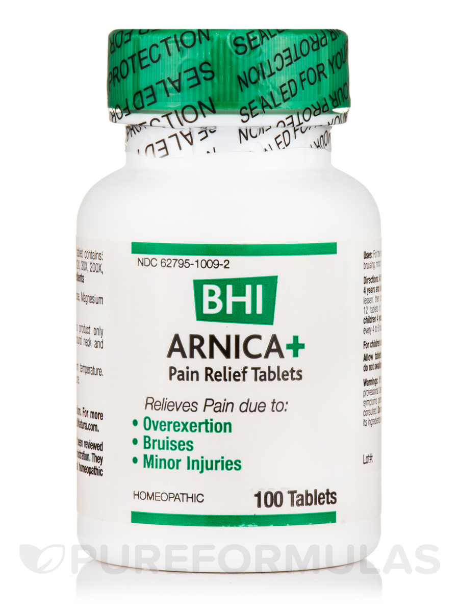 BHI Arnica+ Pain Relief Tablets - 100 Tablets