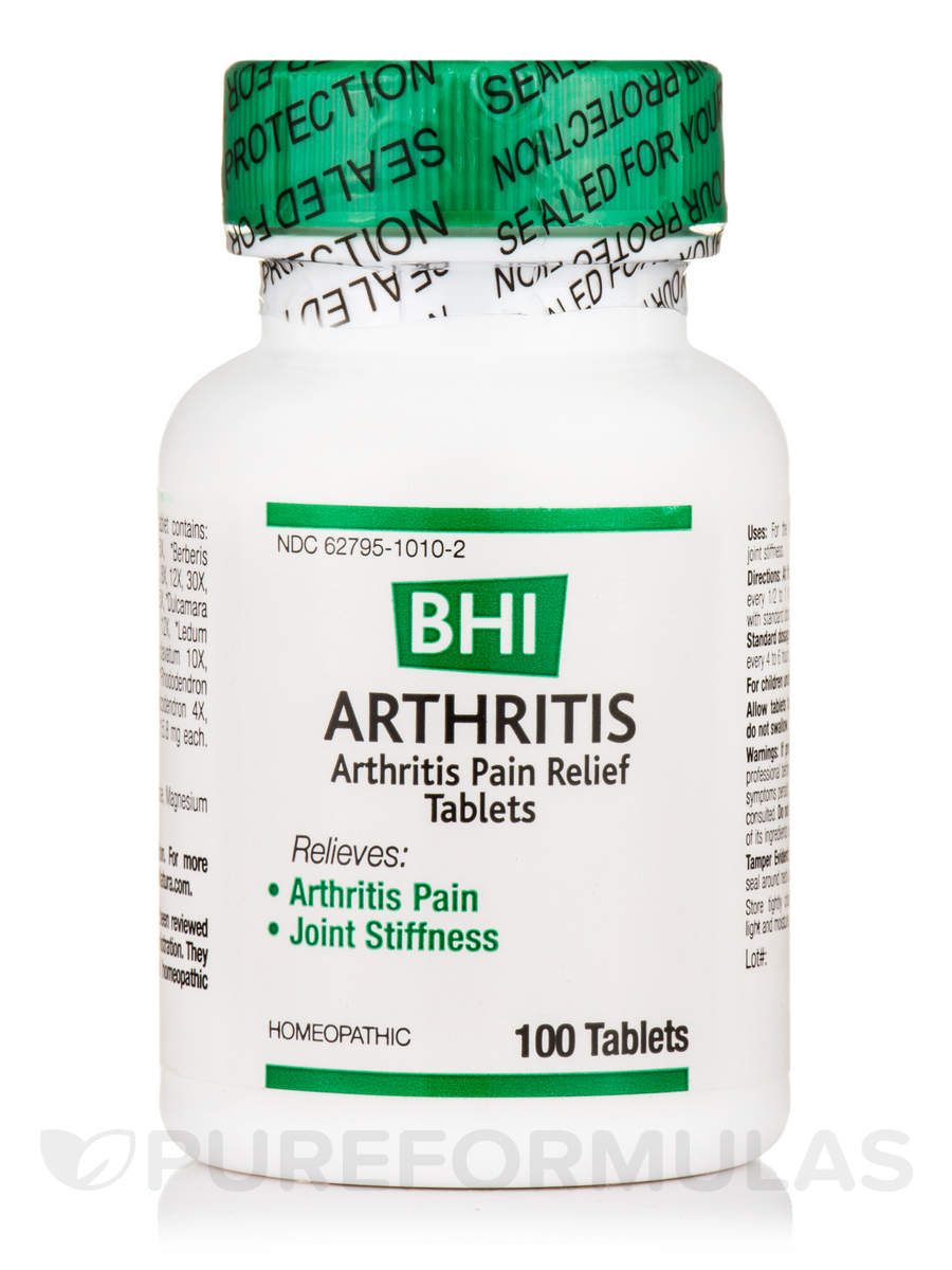 BHI Arthritis Pain Relief Tablets - 100 Tablets
