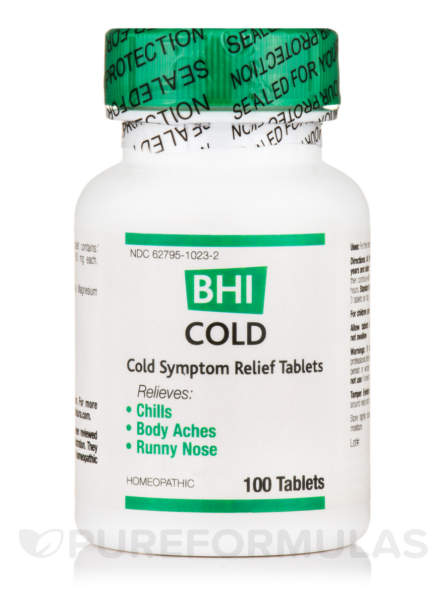 BHI Cold Symptom Relief Tablets - 100 Tablets