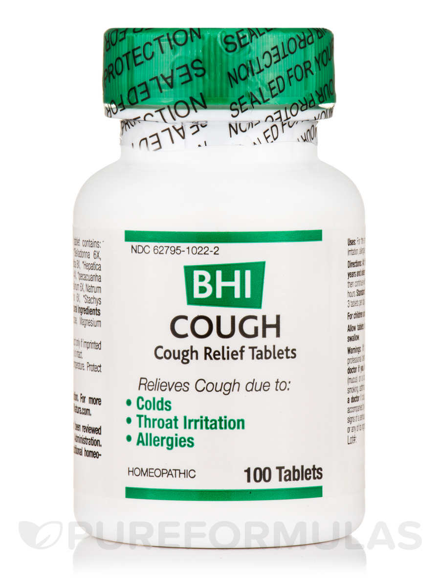 BHI Cough Relief Tablets - 100 Tablets