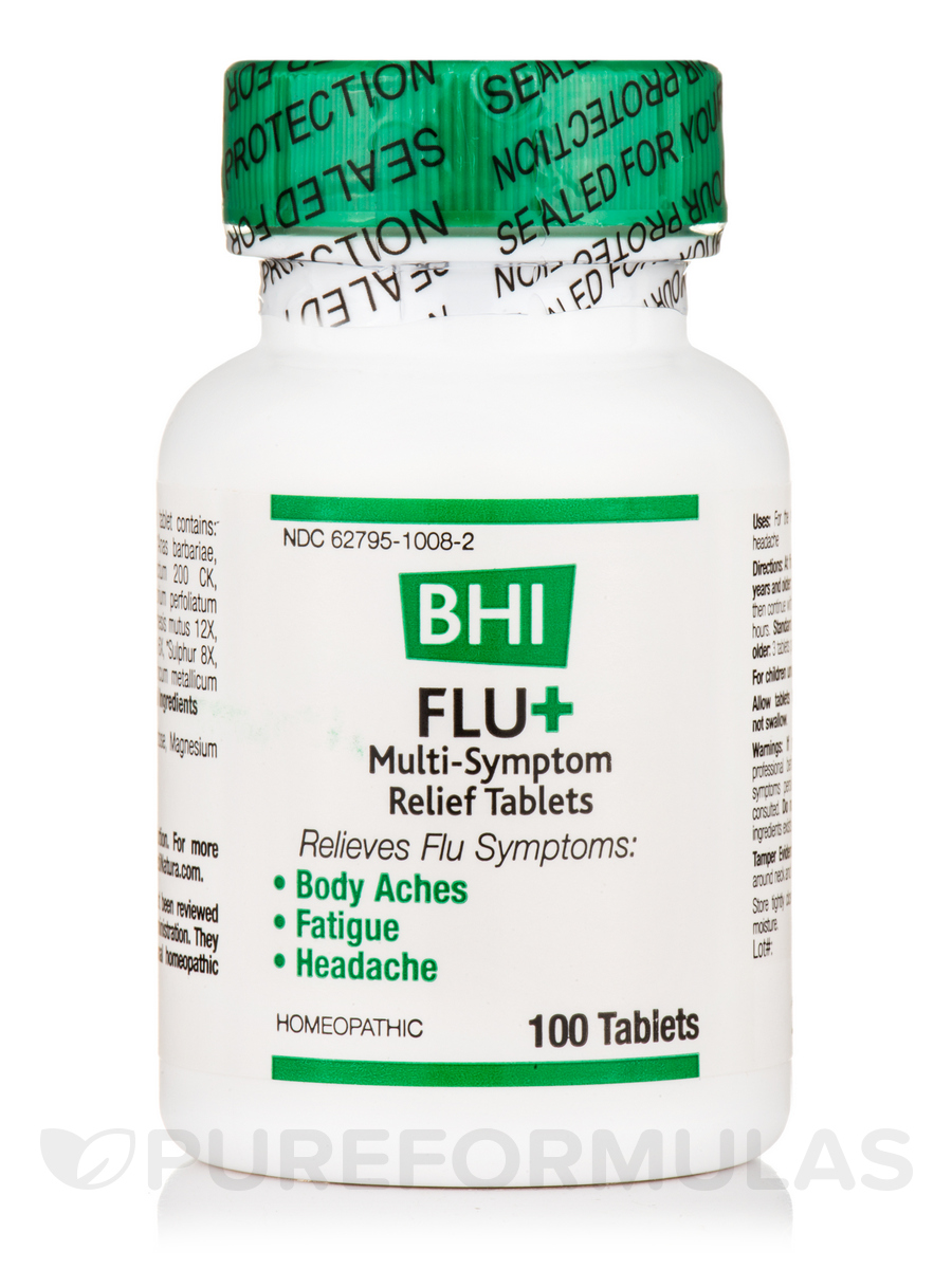 BHI Flu+ Multi-Symptom Relief Tablets - 100 Tablets