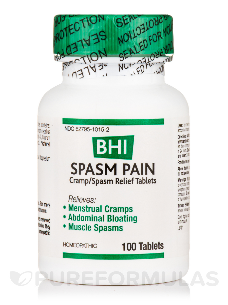 BHI Spasm Pain (Cramp/Spasm Relief Tablets) - 100 Tablets