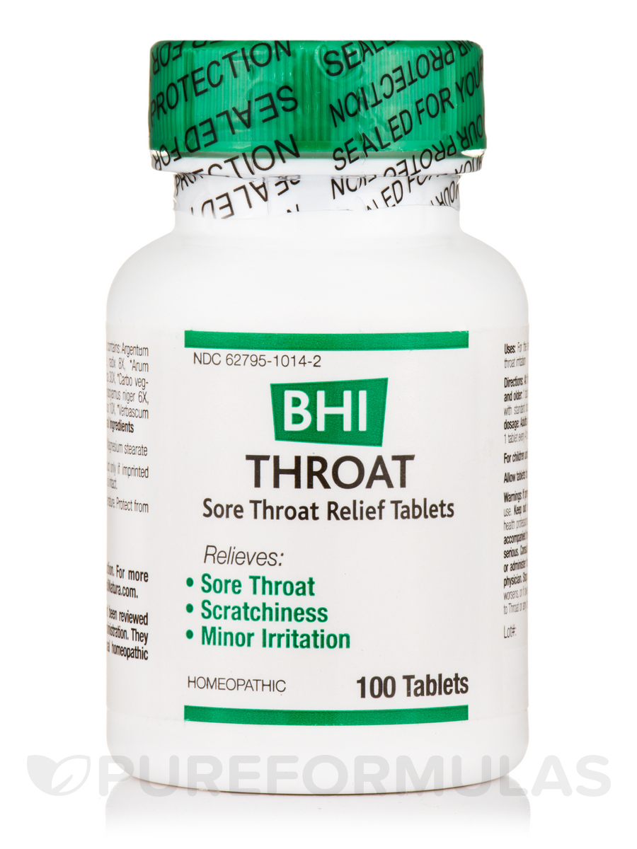 BHI Throat (Sore Throat Relief Tablets) - 100 Tablets
