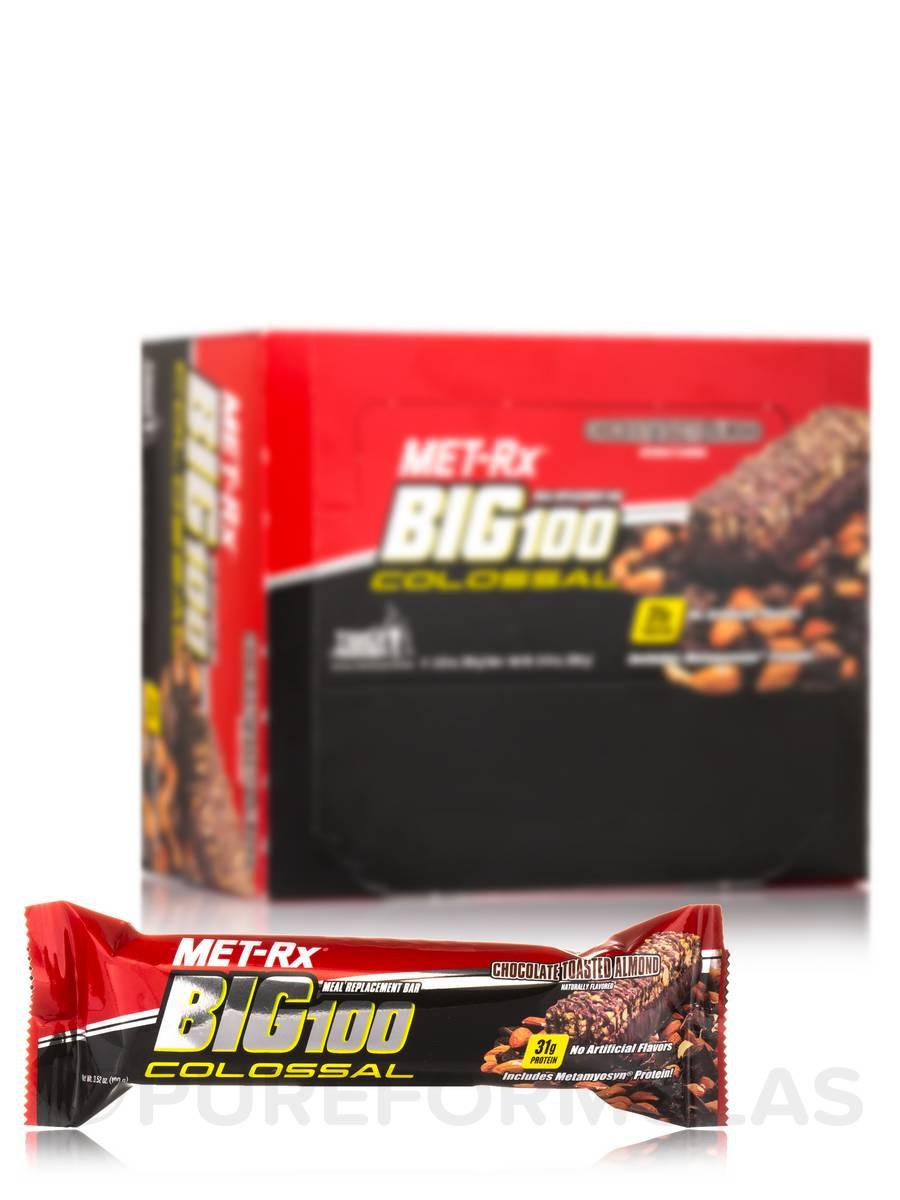 Big 100 Colossal Bar Chocolate Toasted Almond - Box of 9 Bars