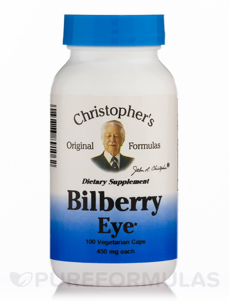 Bilberry Eye Support - 100 Vegetarian Capsules