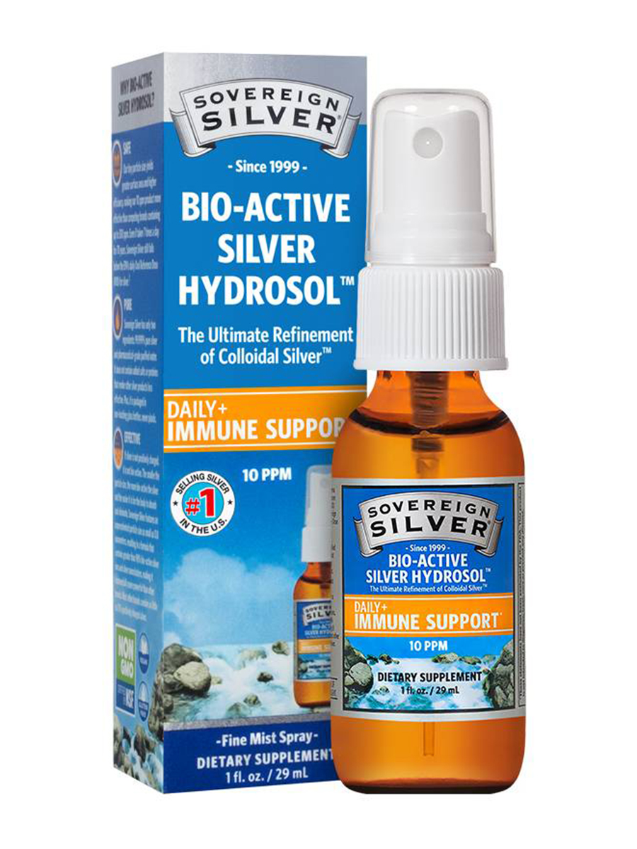 Bio-Active Silver Hydrosol 10 ppm - Fine Mist Spray - 1 fl. oz (29 ml)