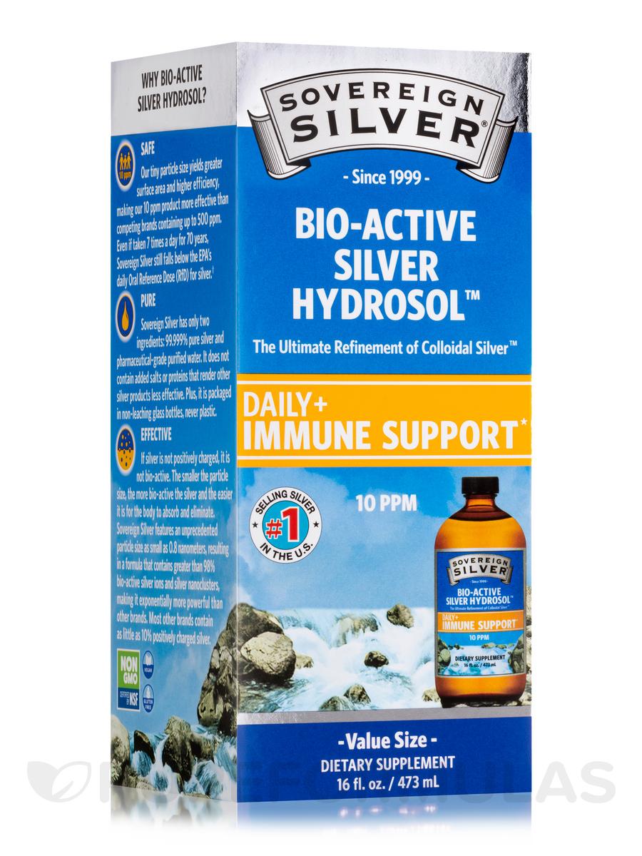 Bio-Active Silver Hydrosol No Dropper Bottle, 10 ppm - 16 fl. oz (473 ml)
