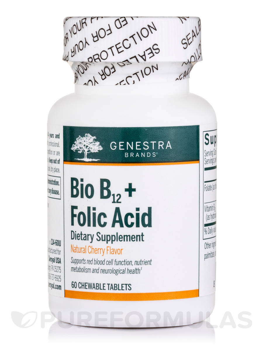 Bio B12 + Folic Acid - 60 Chewable Tablets