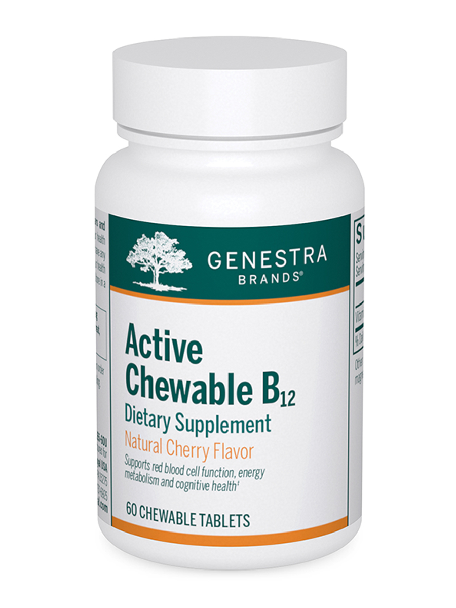 Active Chewable B12 (Cherry Flavor) - 60 Chewable Tablets