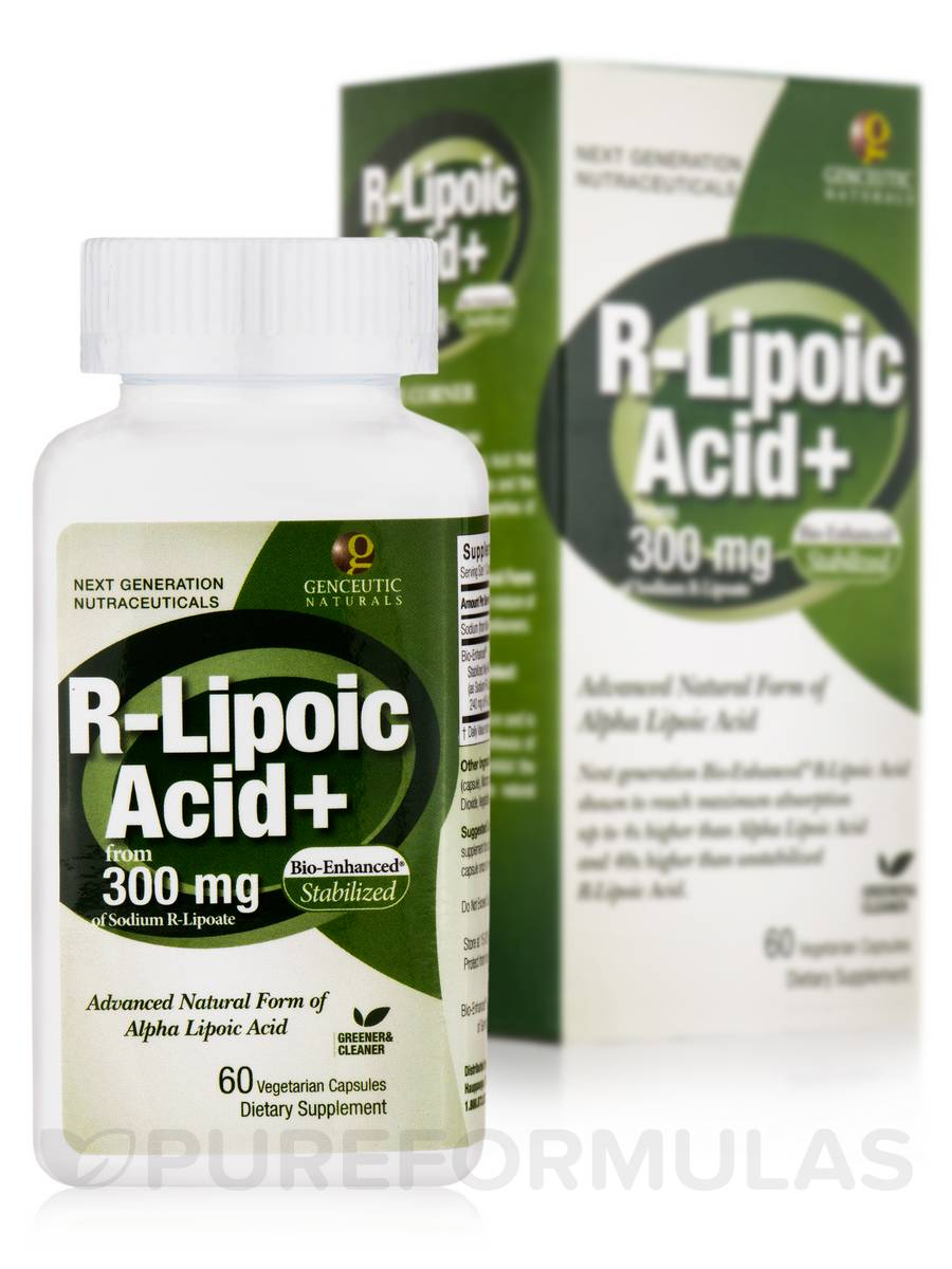 Bio-Enhanced® R-Lipoic Acid + 300 mg - 60 Vegetarian Capsules