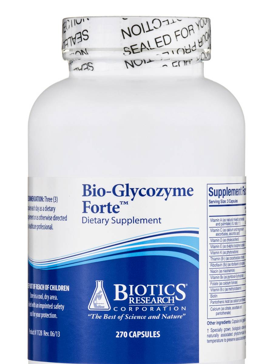 Bio-Glycozyme Forte - 270 Capsules